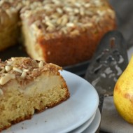 Pear Pine Nut Coffee Cake | mountainmamacooks.com