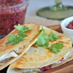 Turkey Tacos with Cranberry Salsa & Cream Cheese