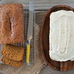 Orange-Pumpkin Bread with Cinnamon Cream Cheese Icing