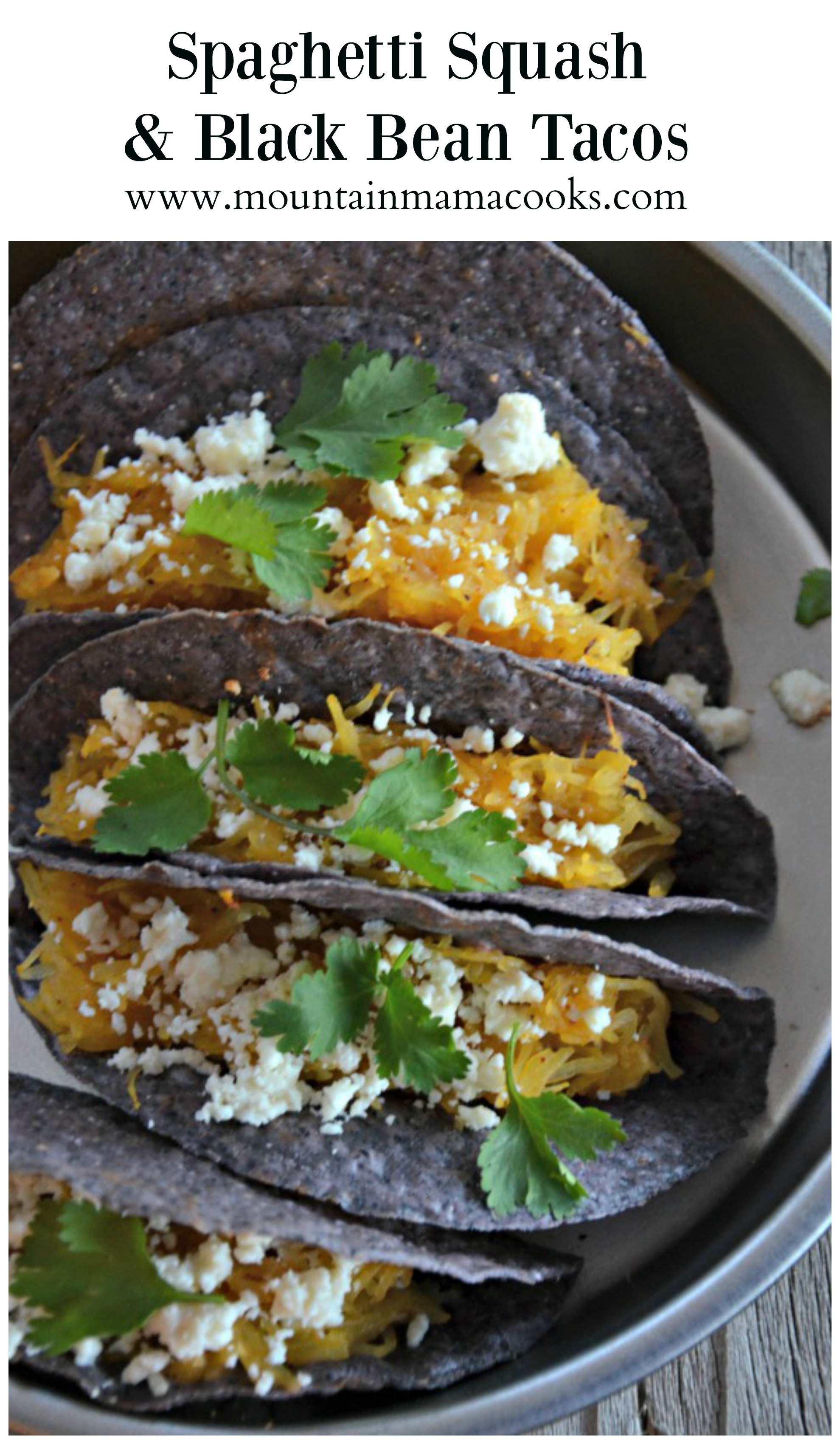 Spaghetti Squash and Black Bean Tacos | mountainmamacooks.com