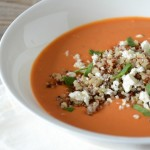 Tomato Soup with Quinoa & Feta