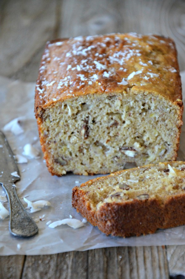 Gluten Free Coconut Banana Bread with Walnuts, www.mountainmamacooks ...