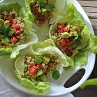 Cilantro-Lime Turkey Taco Lettuce Wraps | mountainmamacooks.com