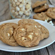 Chewy Brown Sugar Cookies with White Chocolate Chips & Macadamia Nuts | mountainmamacooks.com