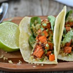 Crispy Quinoa Sweet Potato Tacos