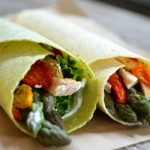 Chicken and Asparagus Wraps with Dill Cream Cheese