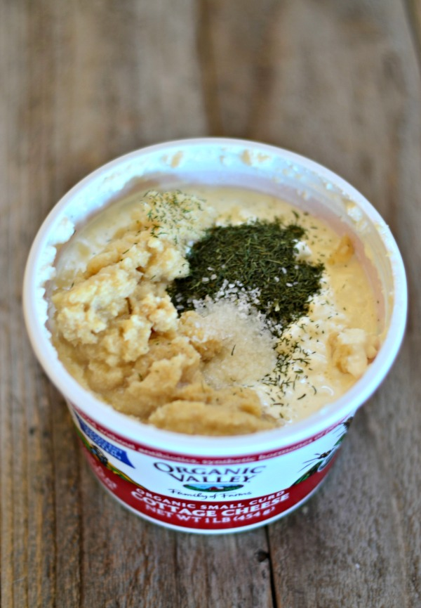... packed with flavor. Horseradish Dill Cottage Cheese Dip for the win