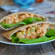 Lightened Up Buffalo Chicken Salad Sandwiches | mountainmamacooks.com