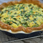 Spring Greens Quiche + A Spring Entertaining Giveaway