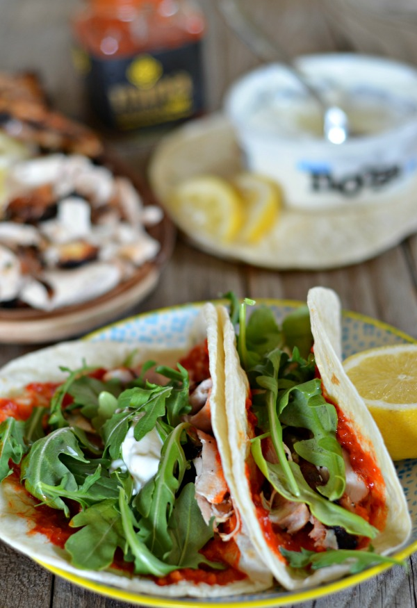 Yogurt Marinated Chicken Tacos with Harissa - Mountain ...