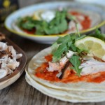 Yogurt Marinated Chicken Tacos with Harissa