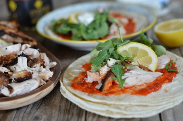 Yogurt Marinated Chicken Tacos with Harissa | mountainmamacooks.com