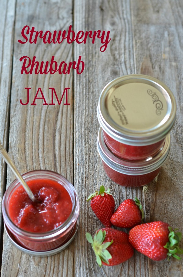 strawberries and rhubarb are a classic combination this jam is
