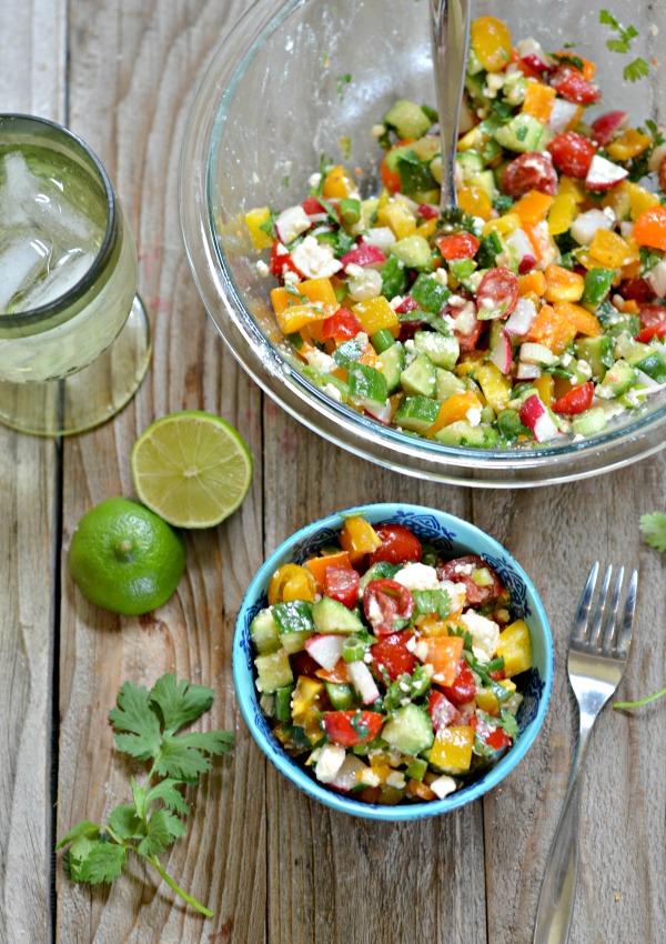 Chopped Salad with Cumin Lime Vinaigrette   mountainmamacooks.com
