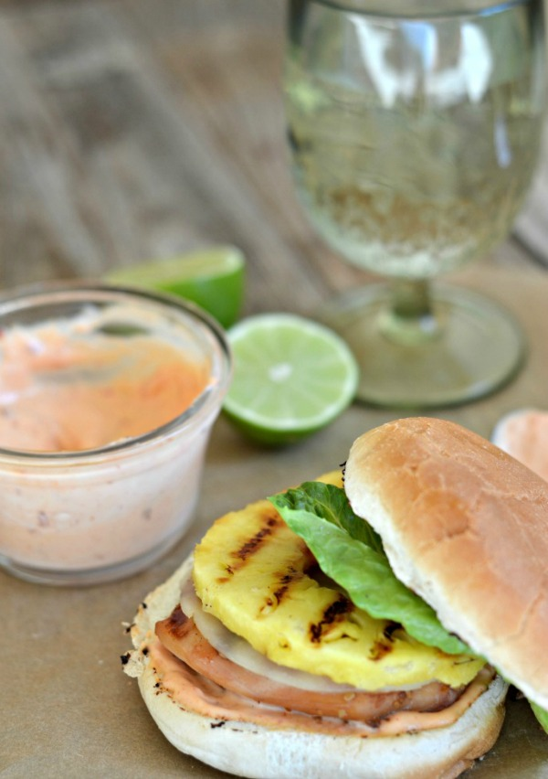 Grilled Teriyaki Chicken and Pineapple Sandwich | mountainmamacooks ...