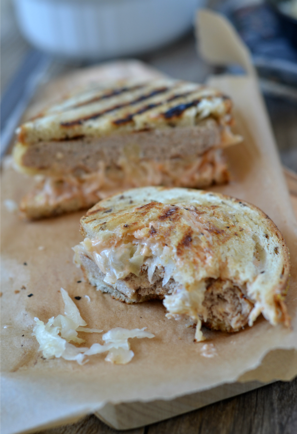 Turkey Reuben Patty Melt | mountainmamacooks.com #burgerweek