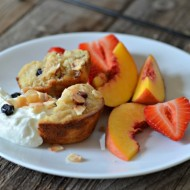 Banana Trail Mix Muffins | mountainmamacooks.com #snackbetter