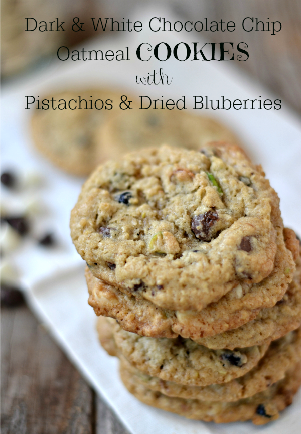 Dark & White Chocolate Chip Oatmeal Cookies with ...