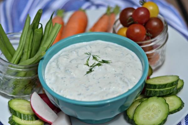 Garlic Herb Dip | mountainmamacooks.com