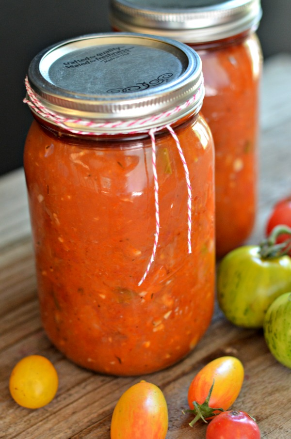 Heirloom Tomato Sauce for Canning - Mountain Mama Cooks