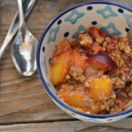 Peach Plum Crisp | mountainmamacooks.com