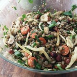 Lentil Salad with Roasted Fennel and Carrots