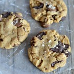 Salted Chocolate Chip Peanut Butter Cookies