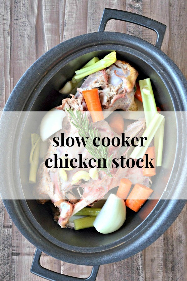 Slow Cooker Chicken Stock - Mountain Mama Cooks