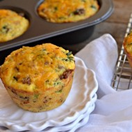 Breakfast Sausage and Kale Cornbread Muffins | mountainmamacooks.com