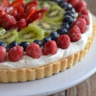 Fresh Fruit Tart with Creme Fraiche Whipped Cream | mountainmamacooks.com