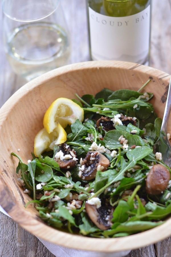 Warm Mushroom, Roasted Asparagus And Wild Rice Salad With Feta Recipes ...