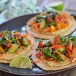Veggie Hummus Tacos