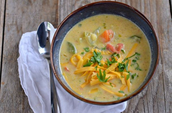 Summer Vegetable Chowder | mountainmamacooks.com