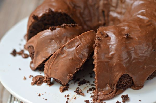 Triple Chocolate Zucchini Bundt Cake | mountainmamacooks.com