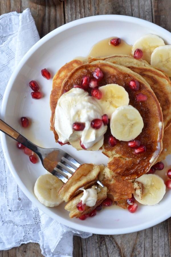Creme Fraiche Pancakes | mountainmamacooks.com