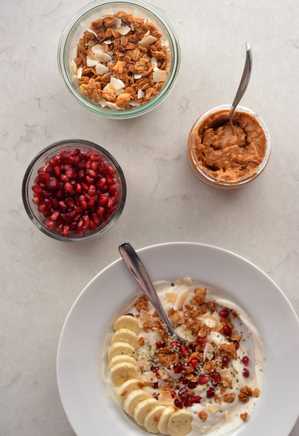 yogurt mint and pomegranate seeds pomegranate molasses and pomegranate ...