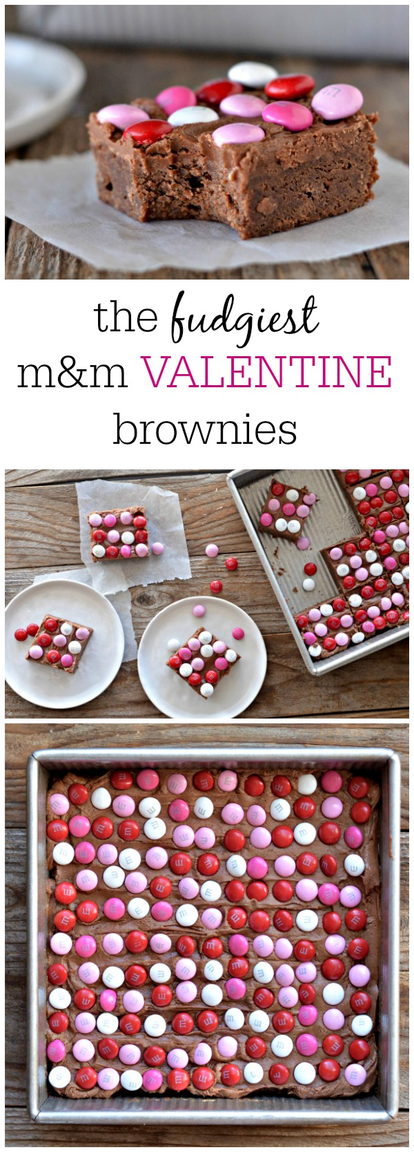 m&m Valentine Brownies | mountainmamacooks.com