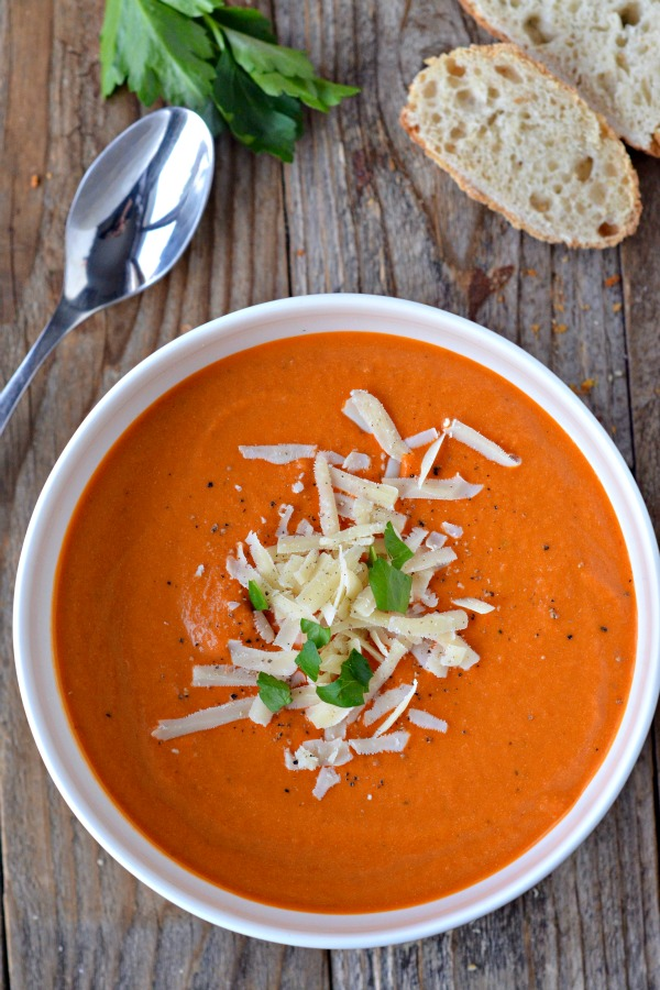 Nordstrom's Tomato Basil Soup - Mountain Mama Cooks