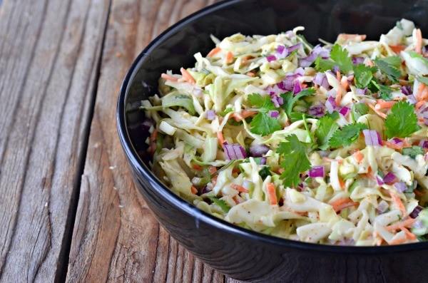 Spicy Cilantro Coleslaw | mountainmamacooks.com