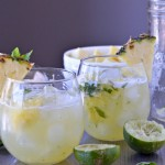 Skinny Pineapple Mint Margaritas