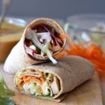 Thai Chicken Wraps with Peanut Sauce
