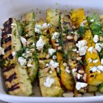 Grilled Summer Squash with Feta, Lemon and Fresh Herbs