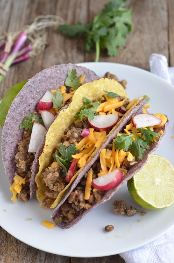 Turkey Lentil Slow Cooker Tacos | mountainmamacooks.com