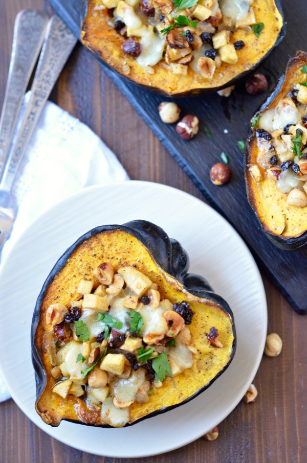 Apple Hazelnut Stuffed Squash | mountainmamacooks.com
