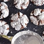 Chocolate Crinkle Cookies with Coconut Oil