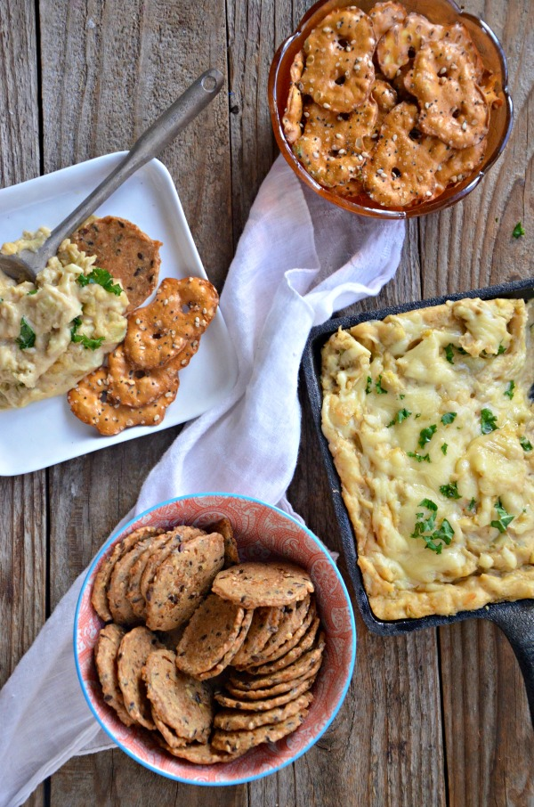 Hot Hummus Artichoke Dip | mountainmamacooks.com
