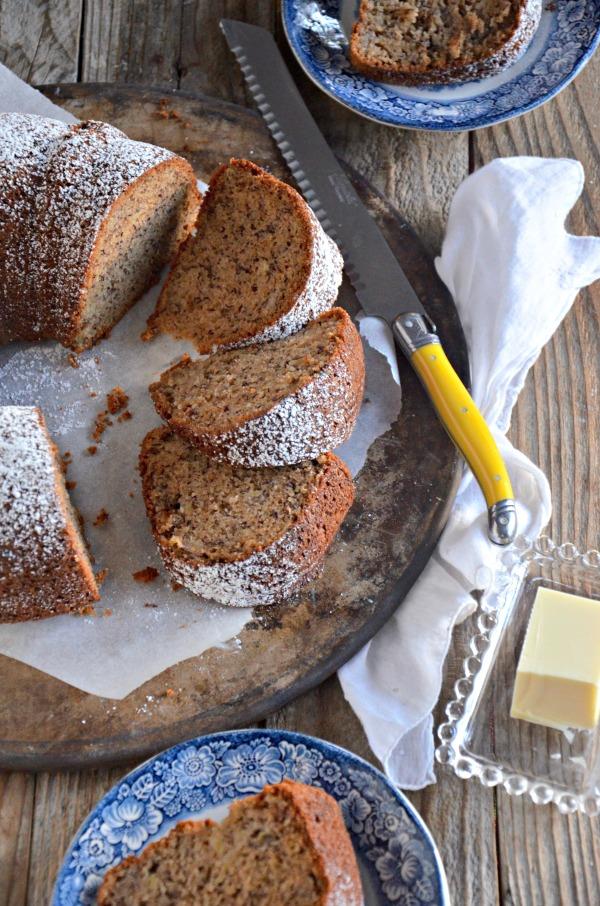 Gluten Free Banana Bundt Cake | mountainmamacooks.com