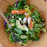 Shredded Brussels Sprouts and Kale Salad with Orange & Avocado