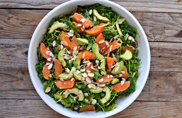 Brussels Sprouts and Kale Salad with Orange & Avocado | mountain mama cooks #EatSeasonal