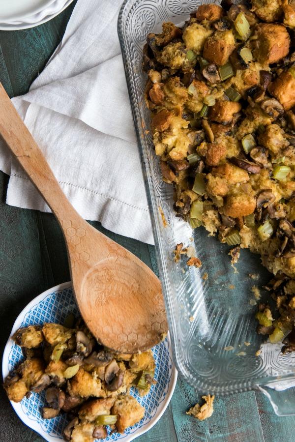 Brioche Mushroom Stuffing | www.mountainmamacooks.com